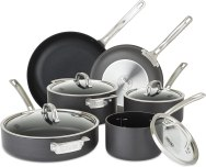 Viking Culinary Hard Anodized Nonstick Cookware Set, 10 Piece, Gray