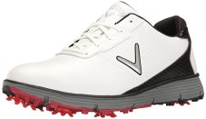 Callaway Men's Balboa TRX Golf Shoe, White/Black, 9.5 W US