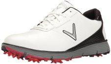 Callaway Men's Balboa TRX Golf Shoe, White/Black, 9.5 W US