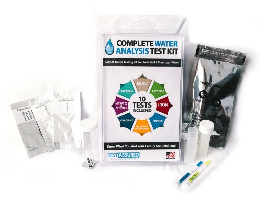 Drinking Water Test Kit 10 Minute Testing For Lead Bacteria Pesticide Iron Copper And More