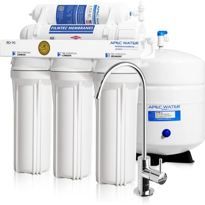 APEC Top Tier Supreme Certified High Flow 90 GPD, Ultra Safe Reverse Osmosis Drinking Water Filter System