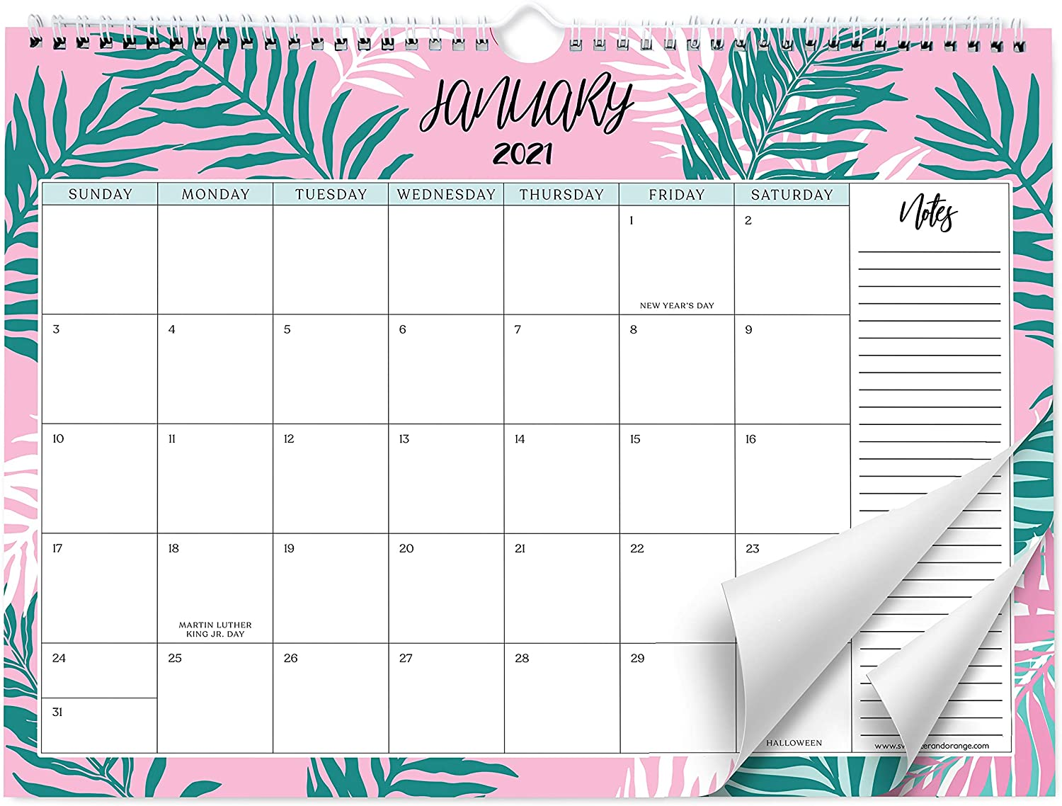 Sweetzer & Orange 15 Calendar. 15 Month Office or Family Wall Calendar  15-Dec 15 - Leafy Design Monthly Planner, Daily Wall Calendars for  Office