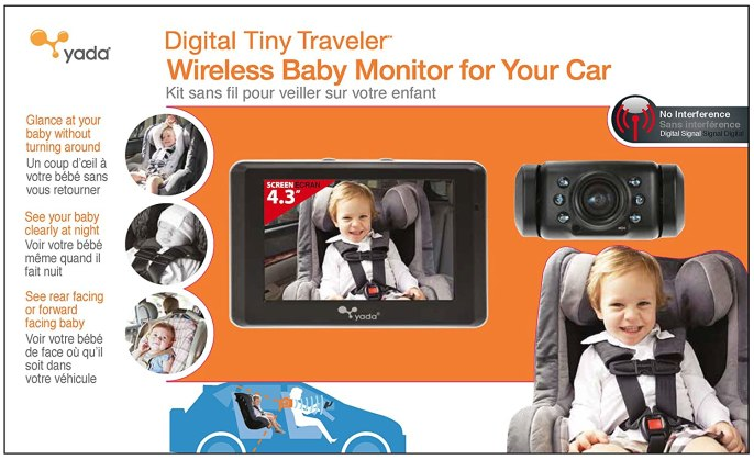 Image result for Yada Tiny Traveler Digital Wireless Baby Car Video Monitor