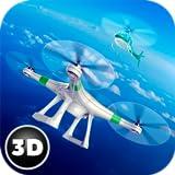 Quadcopter Drone Air Strike Jet Fighter Game: US Army Navy Warship | RC Robot Multirotor Sim