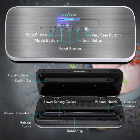 NutriChef PKVS18SL Vacuum Sealers