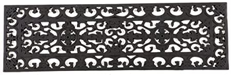 Amazon Com Entryways Fleur Di Lys Stair Tread Recycled Rubber | Amazon Outdoor Stair Treads | Self Adhesive | Non Skid | Rubber Backing | Rubber Stair | Carpet Stair