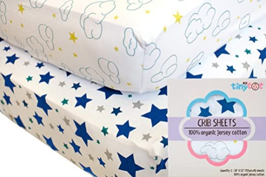 MyTinyTot Fitted Crib Sheets, Top Sheets