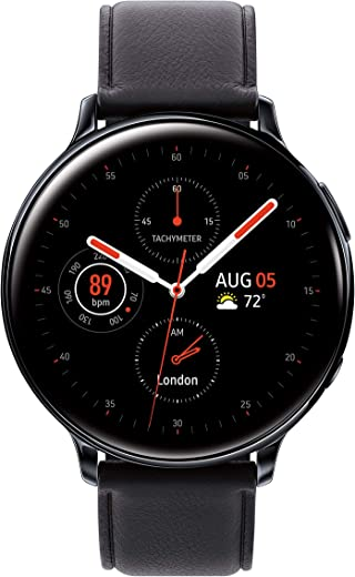 Samsung Galaxy Watch Active2 W/Enhanced Sleep Tracking Analysis, Auto Workout Tracking, and Pace Coaching (44mm, GPS, Bluetooth, Unlocked LTE), Aqua Black - US Version with Warranty
