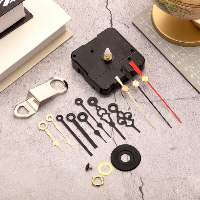 Clock Movements Quartz Clock Movement Mechanism Diy Repair Parts Replacement With 4 Pairs Of Short Hands Hardware