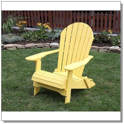 faux wood adirondack chairs in shipshewana