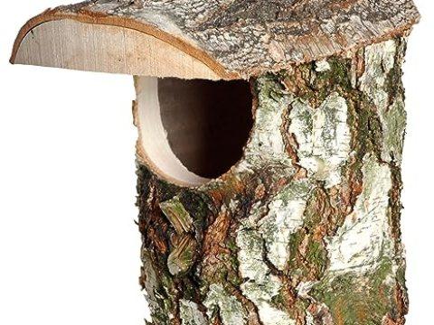 vogelhaus birkenholz dobar fsc birkenholz nistkasten, naturbelassene nisthilfe, vogelhaus  birke,  x  x  cm