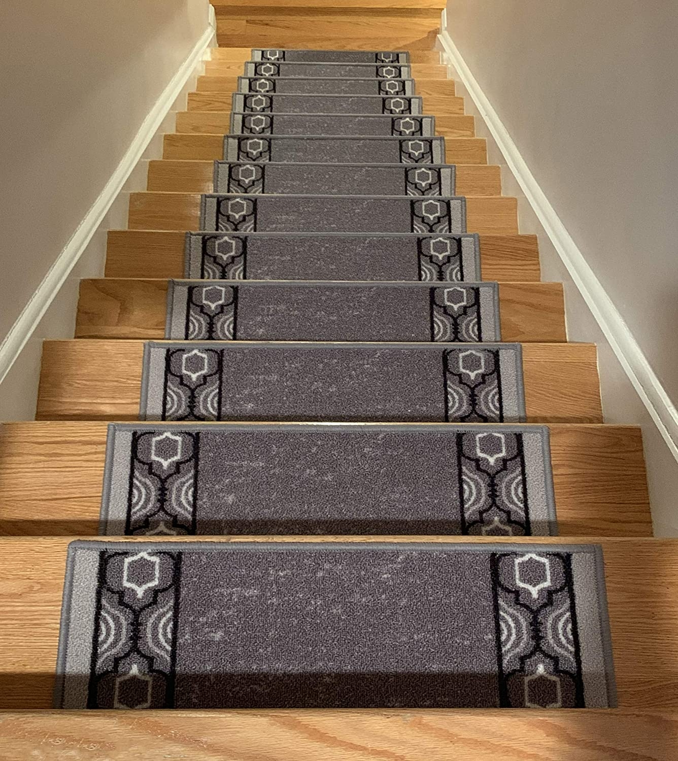 Stair Treads Skid Slip Resistant Backing Indoor Carpet Stair | Carpet On Tread Only | Wood Stairs | Risers | Stair Tread | Hardwood | Staircase