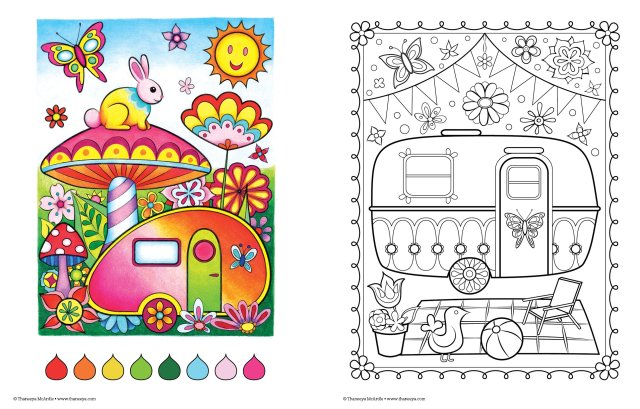 Buy Happy Campers Coloring Book: 21 (Coloring is Fun) Book Online