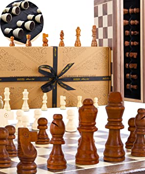 Chess Sets Genuine Jaques Chess Set With Folding Walnut And Sycamore Inlaid Chess Board Case Jaques Of London Quality Chess Since 1795 Jaques Of London Amazon Co Uk Toys Games