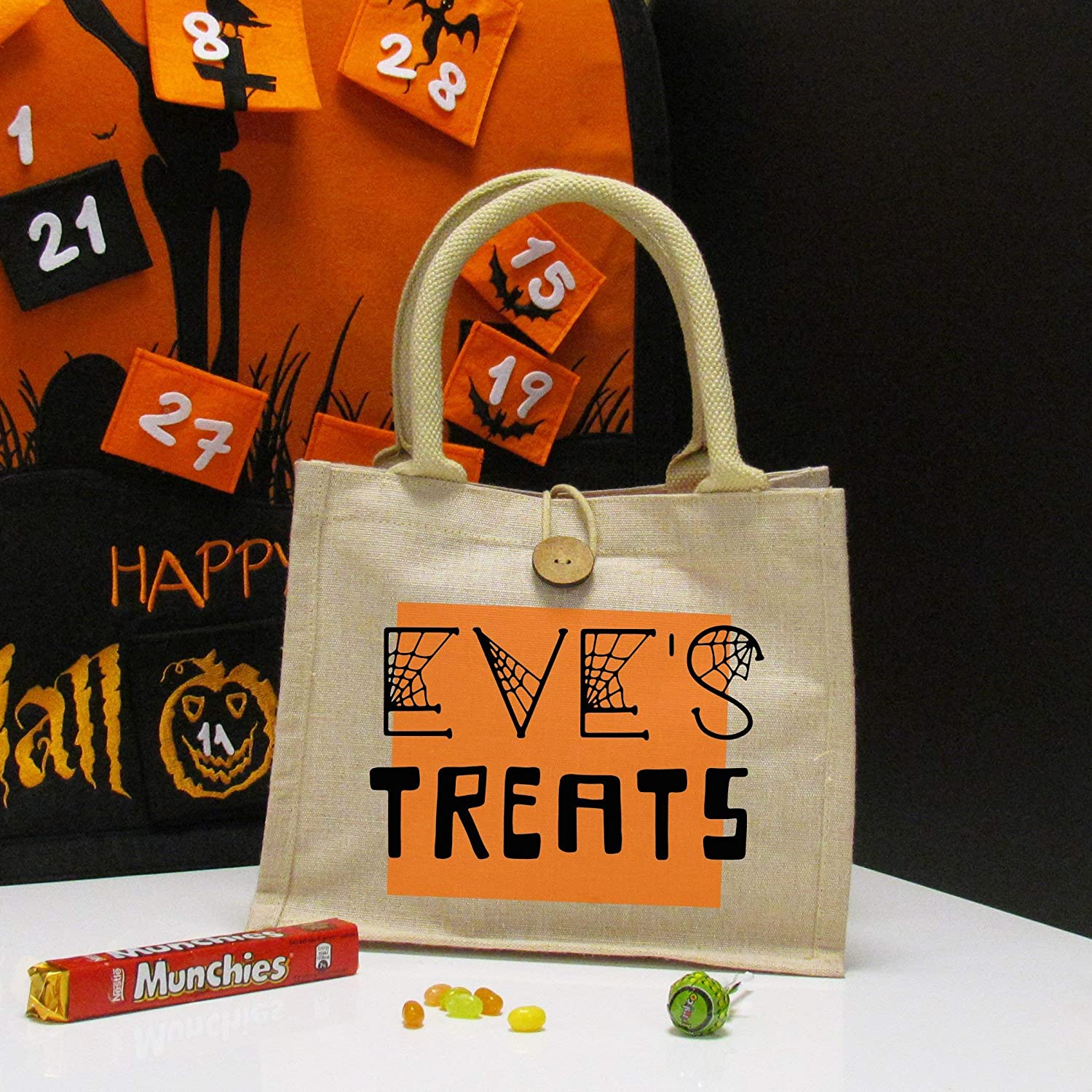 Halloween Trick Or Treat Bag Personalised Trick Or Treat Halloween Treat Bag Personalised Halloween Sweet Bag Halloween Trick Or Treat Amazon Co Uk Handmade