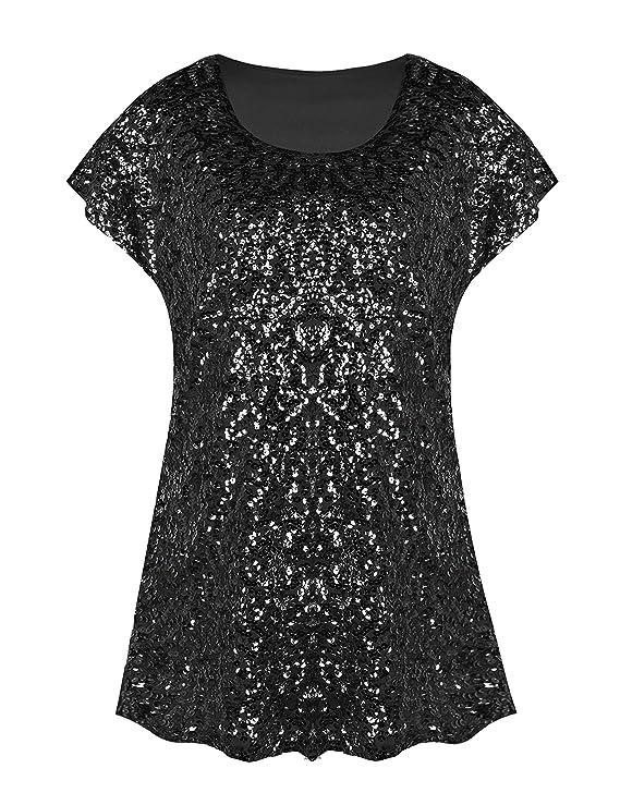 Camiseta elegante con brillantinas color negrohttps://amzn.to/2Qh9rOE