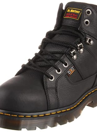 Dr. Martens Men's Ironbridge Steel IM Boot,Black Industrial Grizzly,9 UK/10 M US