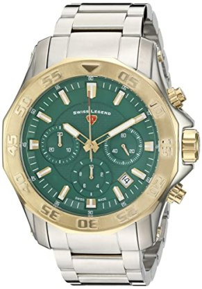 Swiss Legend Men's 'Islander' Quartz Stainless Steel Casual Watch, Color:Silver-Toned (Model: 16199SM-SG-88)