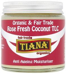 TIANA Fair Trade Organics Rose Fresh Coconut TLC Anti-Ageing Moisturiser - 100ml