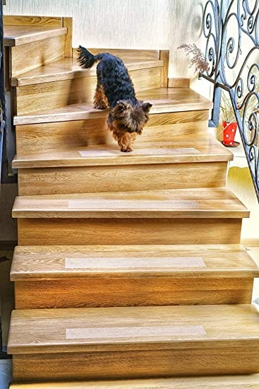 Kenley Non Slip Stair Treads For Dogs And Pets Pack Of 4 Clear | Dog Slipping On Wood Stairs | Steps | Hardwood Floors | Self Adhering | Hardwood | Puppy Treads