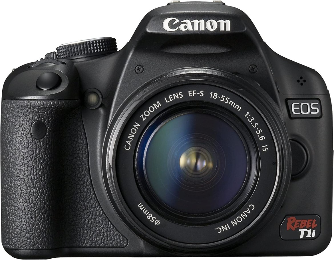 Amazon.com : Canon EOS Rebel T1i 15.1 MP CMOS Digital SLR Camera with  3-Inch LCD and EF-S 18-55mm f/3.5-5.6 IS Lens : Canon Xti : Camera & Photo