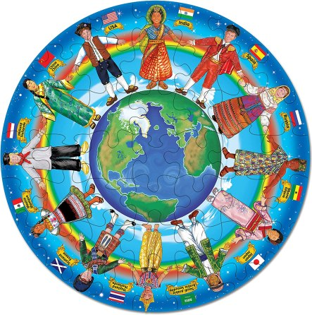 Children of the World Puzzle Kids Multicultural Diversity Materials Montessori cultural toys books