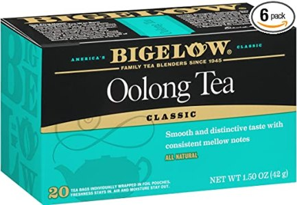 Bigelow Oolong Tea Bags 20-Count Boxes (Pack of 6), 120 Tea Bags Total. Caffeinated Individual Black Tea Bags, for Hot Tea or Iced Tea, Drink Plain or Sweetened with Honey or Sugar