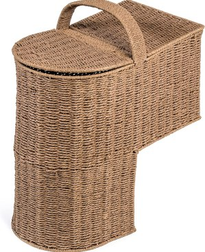 Trademark Innovations Storage Stair Basket With Handle
