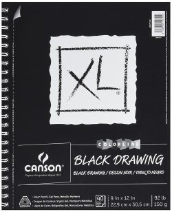 Canson XL Series Black Drawing Paper for Pencil