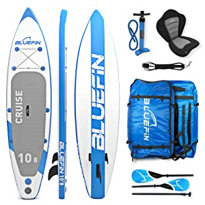 Bluefin SUP Stand Up Inflatable Paddle Board with Kayak Conversion Kit