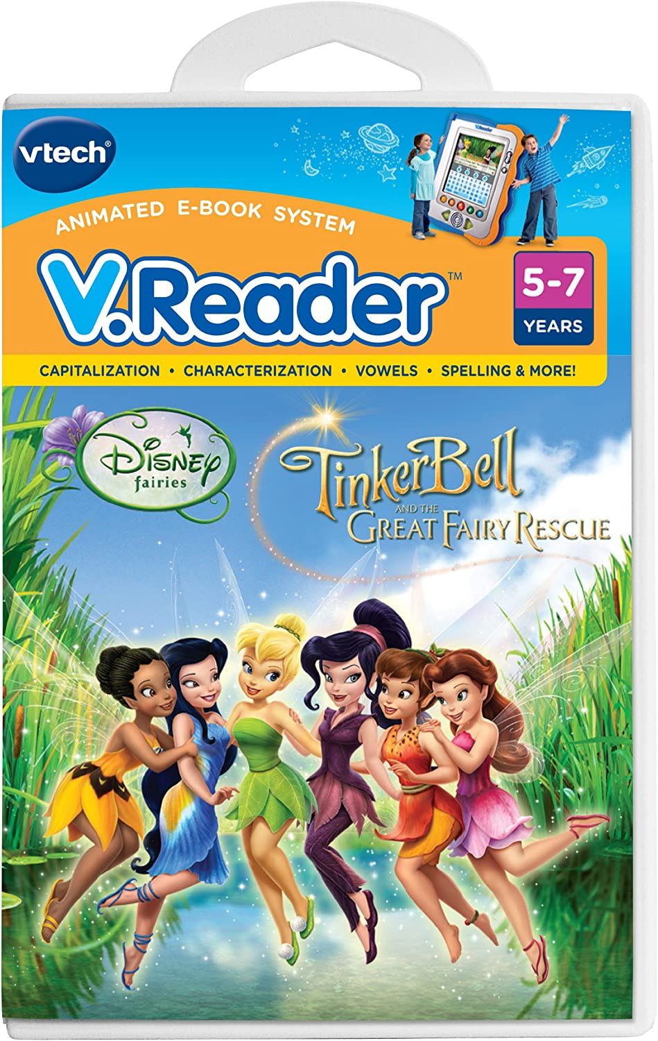 Amazon Com Vtech V Reader Software Disney S Fairies Tinkerbell And The Great Fairy Rescue Toys Games