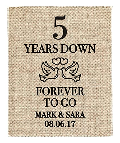 Amazon Com Five Year Anniversary Gift 1st Wedding Anniversary Gift Gift For 1st Anniversary 1 Year Down Forever To Go 1 Year Of Marriage Handmade