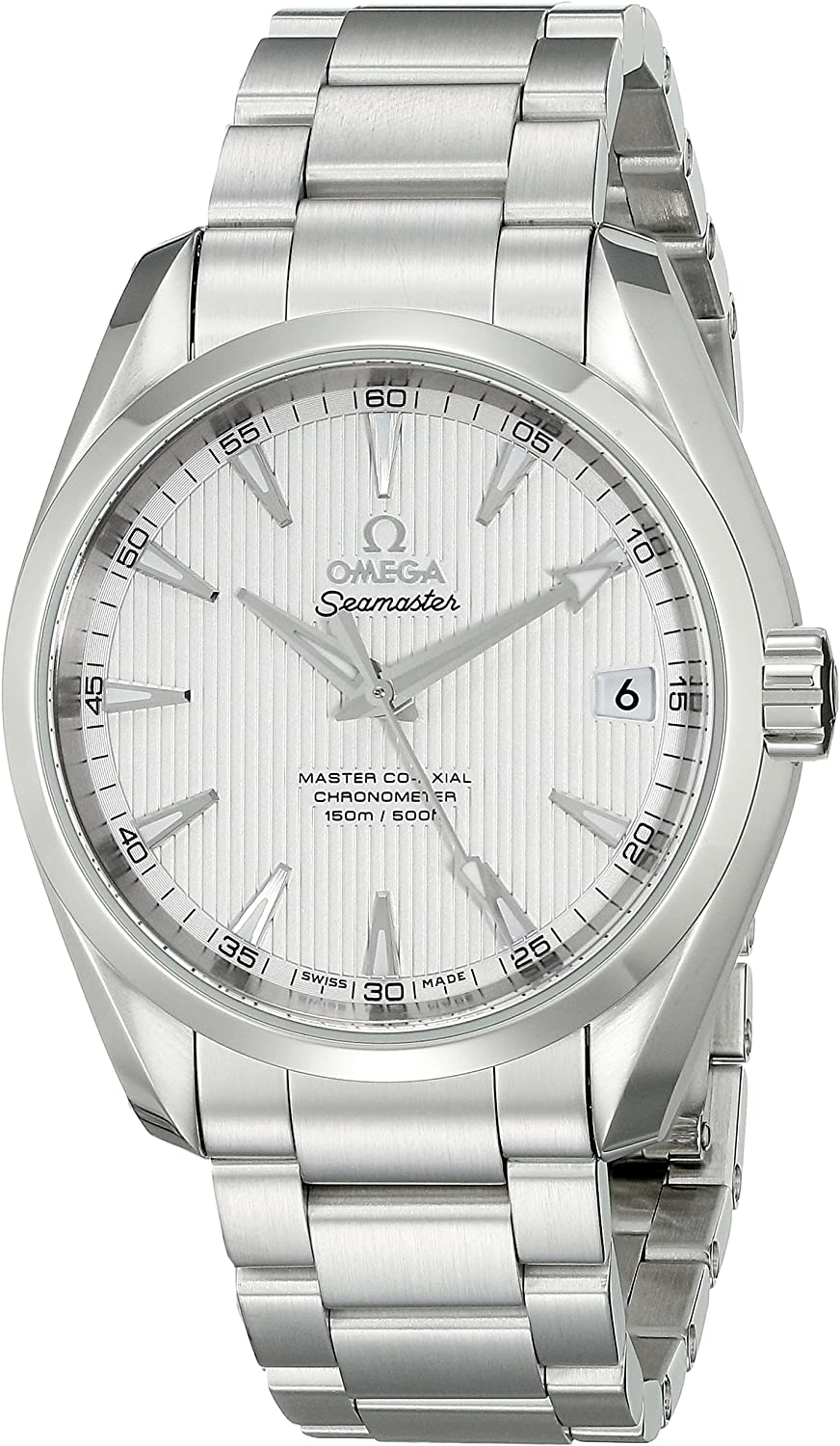 Omega Men's 23110392102002 Analog Display Automatic Self Wind Silver Watch