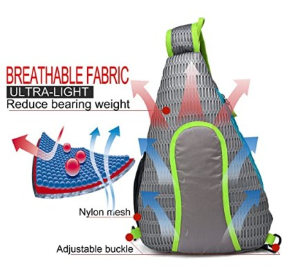 best sling backpack material
