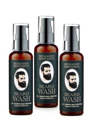 Shampoing 2 en 1 pour barbe - shampoing et après-shampoing - huiles 100 % naturelles