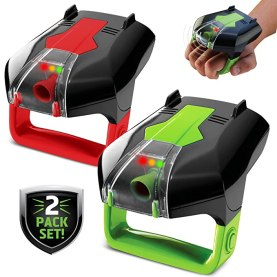 SHARPER IMAGE Two-Player Electronic Laser Tag Game Set with Infrared Tech, 2x Laser Blasters with Point Tracking, Sound/Light/Vibration Effects, Safe for Outdoors & Indoors, for Children 6 Years Old+
