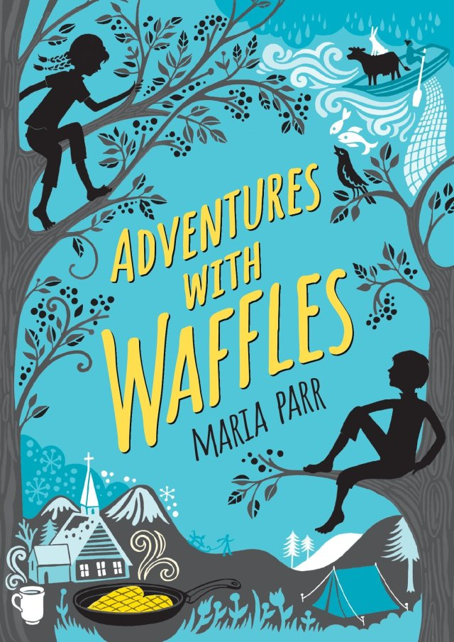 """""""Adventures with Waffles"""" paperback cover"""