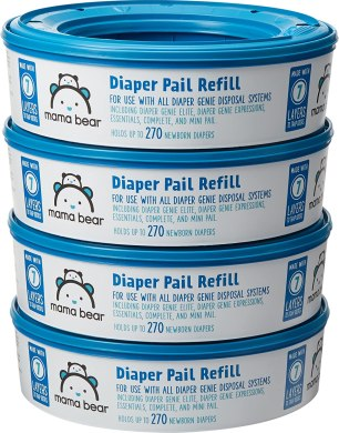 Amazon Brand - Mama Bear Diaper Pail Refills for Diaper Genie Pails