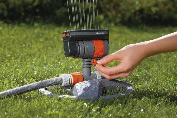 gardena sprinkler instructions