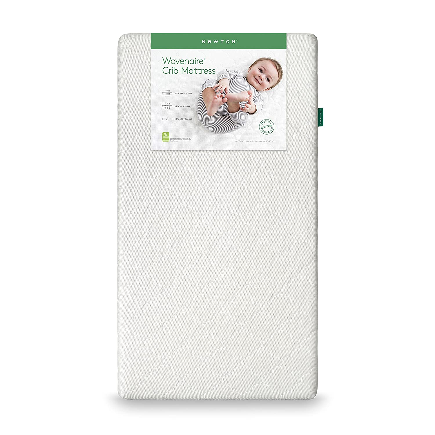 Newton Crib Mattress & Toddler Mattress: 100% Breathable, Washable, and Recyclable