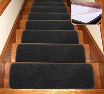 Seloom Carpet Stair Treads Indoor Non Slip Stair Rugs Covers   Non Slip Stair Rugs   Bullnose Carpet   Carpet Rug   Mat   Stair Runners   Tread Covers