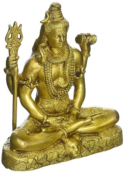 Aone India Bhole Shiva Idol Brass Sculpture Hindu God Lord Nataraja Deity Figurine Art Decor Gifts