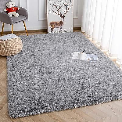 Buy Super Soft Kids Room Nursery Rug 5 X 8 Grey Mordern Indoor Fluffy Area Rugs For Bedroom Living Room Baby Girls Boys Floor Carpets By Varycarry Online In Indonesia B081h4l6jx