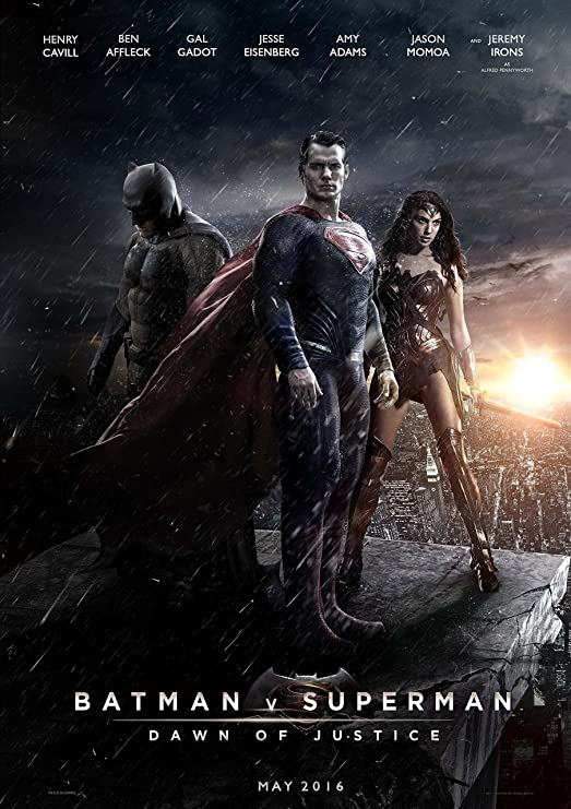 Amazon Com Batman Vs Superman Dawn Of Justice Movie Poster 24 X 36 Inches Glossy Photo Paper Thick 8 Mil Ben Affleck Henry Cavill Jesse Eisenberg Posters Prints