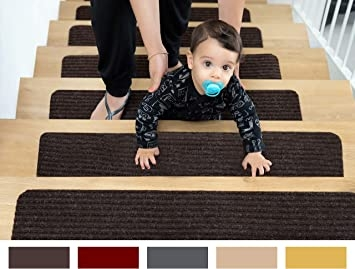 Edenproducts Patent Pending Non Slip Carpet Stair Treads Set Of   Stair Step Carpet Runners   Hallway Carpet   Walmart   Flooring   Non Slip Stair   Wall Carpet