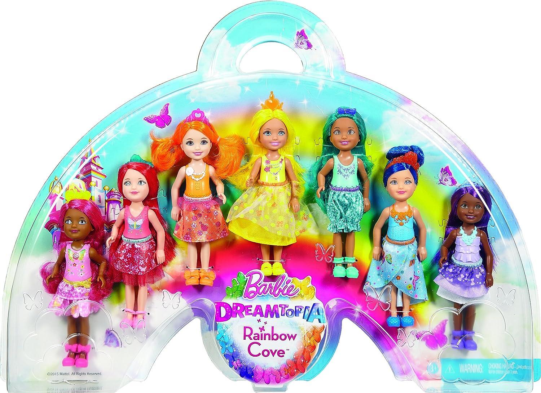 Barbie Dreamtopia Rainbow Cove 7 Doll Set