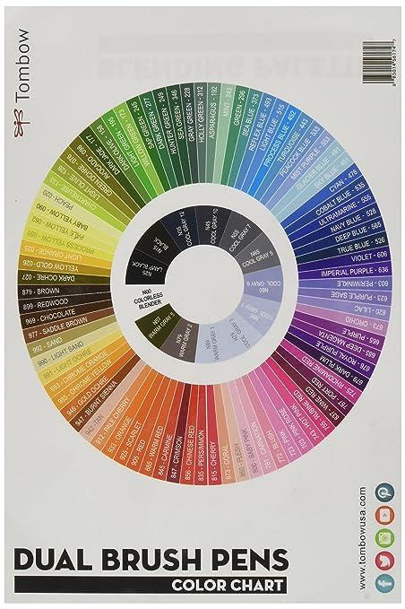 Tombow 96 Color Chart Zeenla