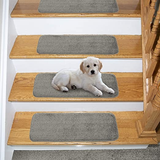 Amazon Com Ottomanson Comfort Soft Sh*G Carpet Stair Treads 5   Carpet Stair Treads Amazon   Non Skid   Anti Slip   Beige   Skid Resistant   Tread Rugs