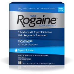 minoxidil rogaine for men to treat hair loss