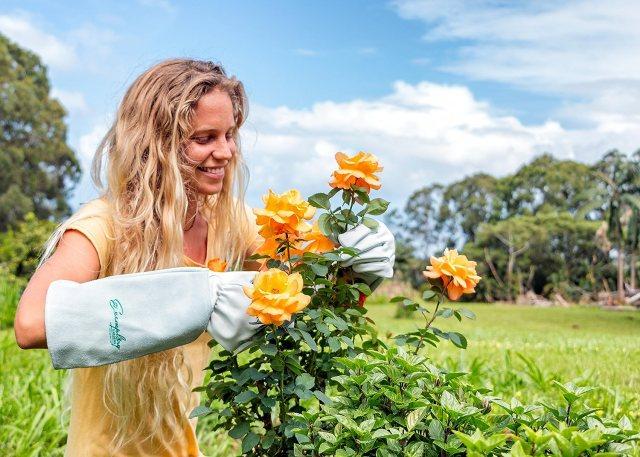 goatskin gardening gloves